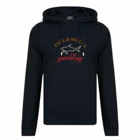 Paul And Shark Logo Hooded Sweatshirt