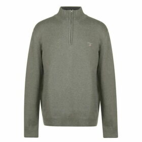 Gant Half Zip Knitted Sweatshirt Mens