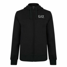 EA7 Large Logo Zip Hooded Sweatshirt