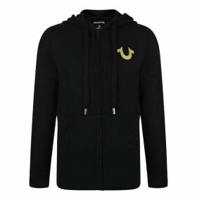 True Religion Foil Zip Hooded Sweatshirt