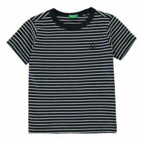 Benetton Stripe Logo T Shirt