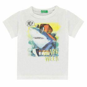 Benetton Shark Print T Shirt