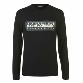 Napapijri Tribe Sele Long Sleeve Large Logo T Shirt