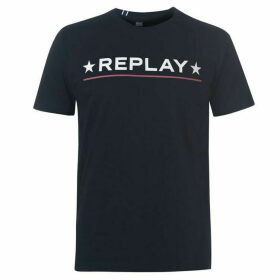 Replay Star Logo T Shirt