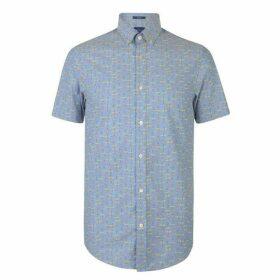 Gant Short Sleeve All Over Print Shirt Mens