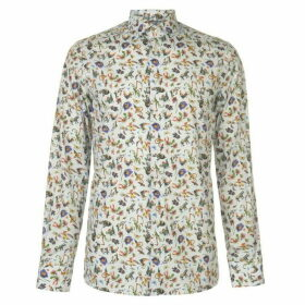 Eton Animal Floral Print Shirt Mens