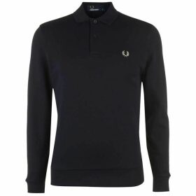 Fred Perry Fred Mens Fleeced Long Sleeve Casual T-Shirt