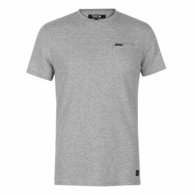 Firetrap Blackseal Herringbone T Shirt