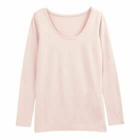 Round-Neck T-Shirt with Long Stretch Sleeves