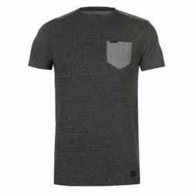 Firetrap Blackseal Textured Stripe T Shirt