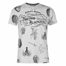 Firetrap Blackseal Printed T Shirt