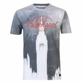 Firetrap Blackseal London Clock T Shirt