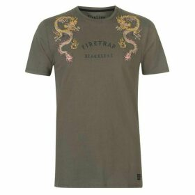 Firetrap Blackseal Embroidered T Shirt