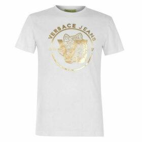 Versace Jeans Couture Versace Foil Logo T Shirt Mens