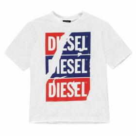 Diesel Scratch Logo T Shirt