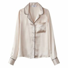 Satin Look Tailored Collar Shirt