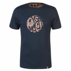 Pretty Green Paisley Print Applique T Shirt