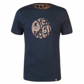 Pretty Green Paisley Print Applique T Shirt