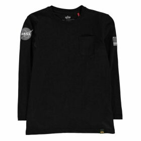 Alpha Industries Nasa Long Sleeve Badge T Shirt