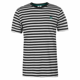 Jack and Jones Striped Core Logo T Shirt Mens