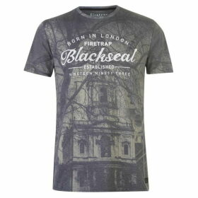Firetrap Blackseal City Gothic T Shirt