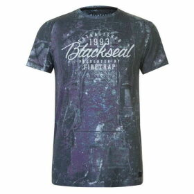 Firetrap Blackseal Dark Skull T Shirt