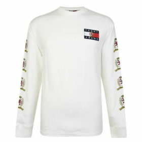 Tommy Jeans Logo Long Sleeved T Shirt