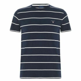 Gant Short Sleeve Striped T Shirt Mens