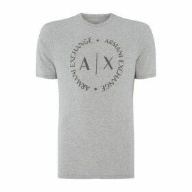 Armani Exchange AX Round Logo Tee Sn00