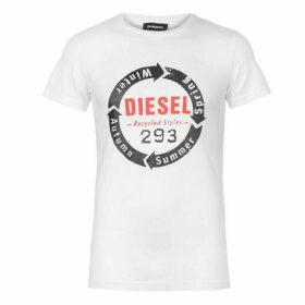 Diesel Jeans Diesel Short Sleeve Circle Logo T Shirt