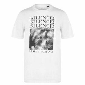 Armani Exchange Silence Graphic T Shirt Mens