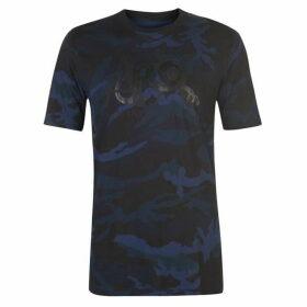 Armani Exchange Armani Camouflage Logo T Shirt Mens