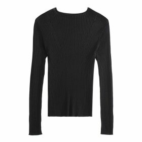 High Neck Skinny Rib Jumper