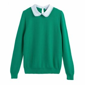 Fine Knit Jumper with Peter Pan Collar