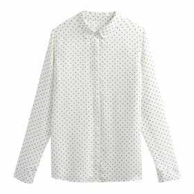 Long-Sleeved Polka Dot Shirt