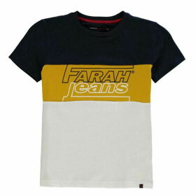 Farah Vintage Cut and Sew T Shirt