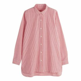 Asymmetric Striped Cotton Shirt