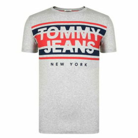 Tommy Jeans Cut Out Stripe Logo T Shirt