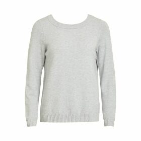 Lace Inset V-Neck Jumper