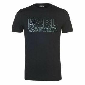 Karl Lagerfeld Karl Foil Logo T Shirt