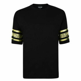 Just Cavalli PVC Logo Short Sleeve T Shirt