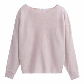 Fine Sparkle Knit Boat-Neck Jumper