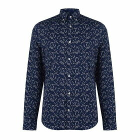 Gant Long Sleeve Printed Slim Fit Shirt