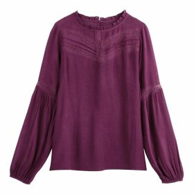 Ruffled Laced Detail Blouse