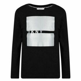 DKNY Square Line Logo T Shirt