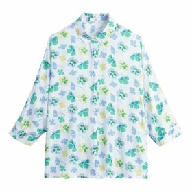 Floral Print Batwing Shirt