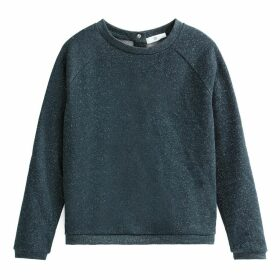 Metallic Sweatshirt with Press-Stud Back