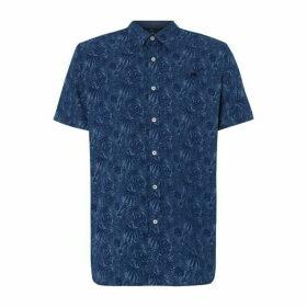 Raging Bull Short Sleeve Hibiscus Print Shirt