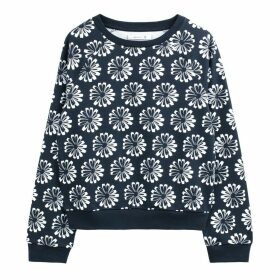 Cotton Floral Print Sweatshirt