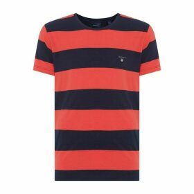 Gant Short Sleeve Stripe T Shirt Mens
